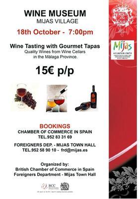 Wine Tasting event in Mijas