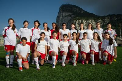 Under 21 Ladies Gibraltar FA team