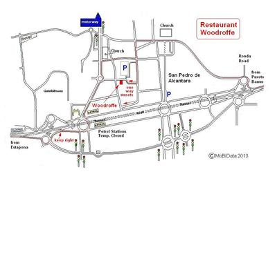 map to help you find Woodroffe's
