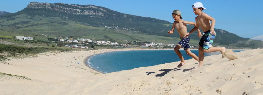 Boys Running on beach