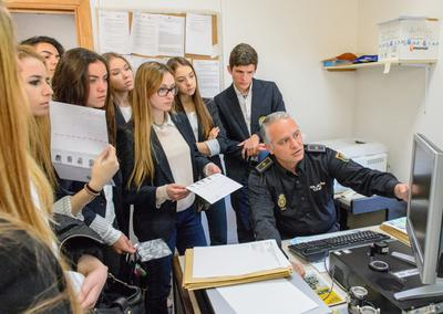 Aloha College students visit forensics department in Malaga