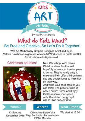 Art Workshop for Kids - 13 December 2015