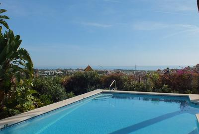 Pool overlooking sea