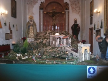 Nativity Scene (belen) in Marbella Chapel
