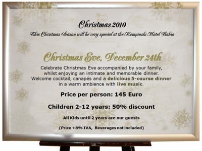 Christmas Eve Program at the Kempinski Hotel Bahía