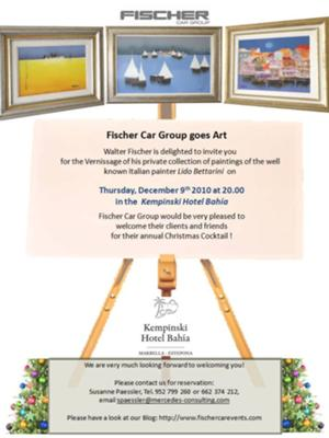 Kempinski Hotel Bahia hold the Christmas Cocktail of Fischer Car Group Marbella