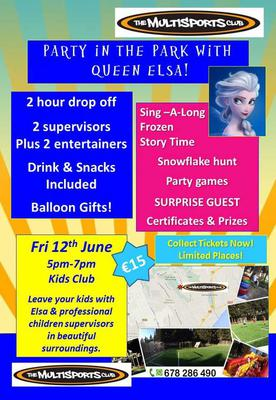 Frozen Party in the Park at the Multisports Club