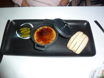 Chicken Parfait with caromalised and marinated cuvcumber
