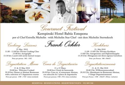 5 Course Degustations Menu of Michelin Star Cook Frank Oehler