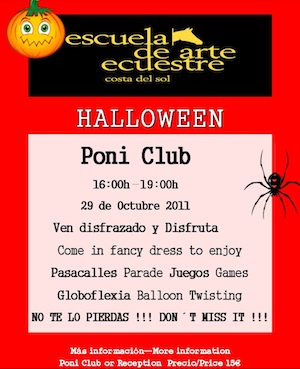 Halloween at the Estepona riding school