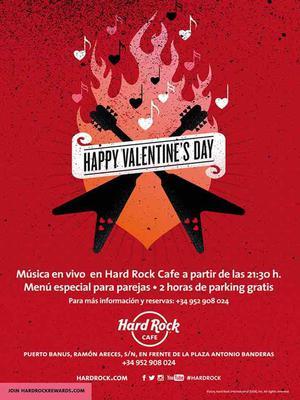 Marbella Hard Rock Cafe Valentines Day Flyer