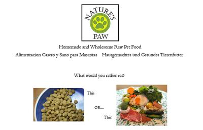 Homemade and Wholesome Pet Food