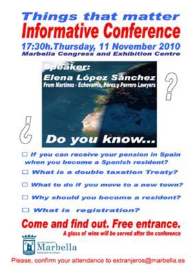 Informative conference in Marbella