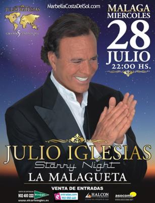 Julio Iglesias concert 2010 Malaga