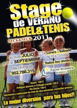 Nueva Alcantara padel and tennis summer camp