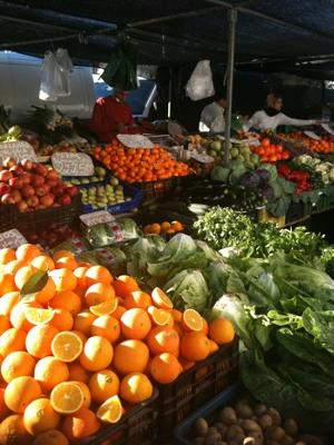 Loads of fresh fruit and veg