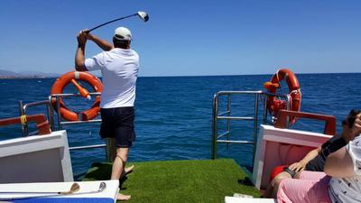 Golf at sea boat charter marbella