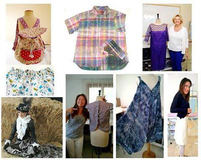 all shown garments made and pattern cut by students.