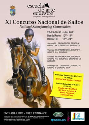 XI National  horse show jumping competition